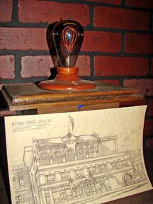 Palace Bulb with sketch of Theatre