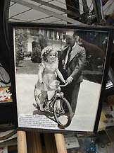Shirly Temple on Shelby Bike